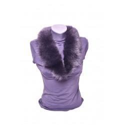 Kožušinový golierik šál z pravej kožušiny , chvost polárna líška