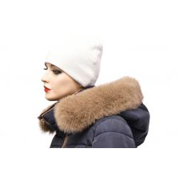 Kožušinový lem na kapucňu , farba čierna , pravá kožušina polárna líška