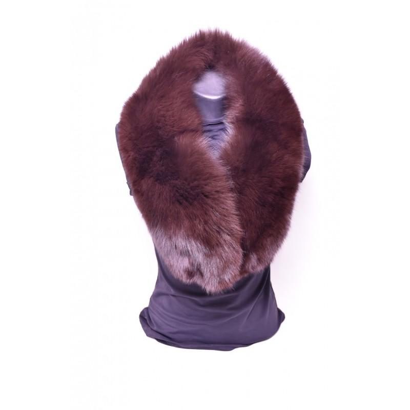 Kožušinový golier / šál / , pravá kožušina , polárna líška farbená - hnedá