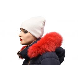Kožušinový lem na kapucňu , farba čierna ,pravá kožušina  chvost polárna líška
