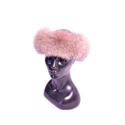 Kožušinová čelenka polárna líška farbená