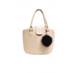 Kožušinový brmbolec , pravá kožušina , líška polárna , prívesok na kabelku