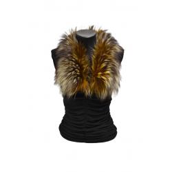 Kožušinový golierik farbený , pravá kožušina strieborná líška