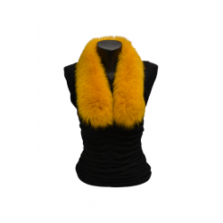 Kožušinový šál golierik , pravá kožušina polárna líška farbená