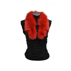 Kožušinový golierik šál z pravej kožušiny , chvost polárna líška farbená