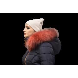 Kožušinový lem na kapucňu , pravá kožušina , chvost strieborná líška farbená