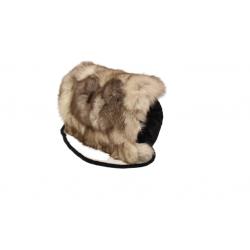 Kožušinový muf , pravá kožušina polárna líška