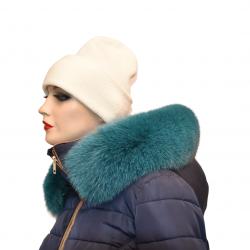 Kožušinový lem na kapucňu ,pravá kožušina  polárna líška farbená