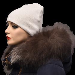 Kožušinový lem na kapucňu , pravá kožušina , chvost strieborná líška