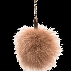 Kožušinový prívesok pravá kožušina polárna líška