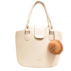 Kožušinový brmbolec  , pravá kožušina , líška hrdzavá , prívesok na kabelku