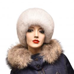 Kožušinová čiapka klasická , pravá kožušina ,  polárna líška